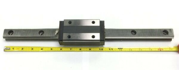 THK Linear Rail with 1 THK HSR30H Bearing.  Length Approx. 438 mm or 17.25
