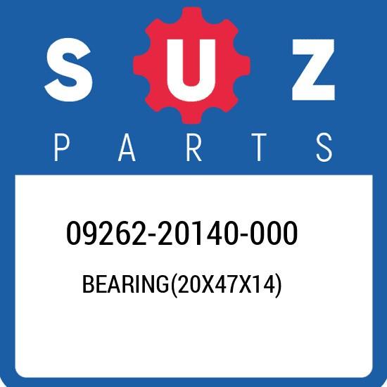 09262-20140-000 Suzuki Bearing(20x47x14) 0926220140000, New Genuine OEM Part