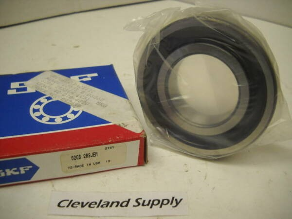 SKF 6206 2RSJEM SEALED SINGLE ROW BALL BEARING NEW CONDITION IN BOX