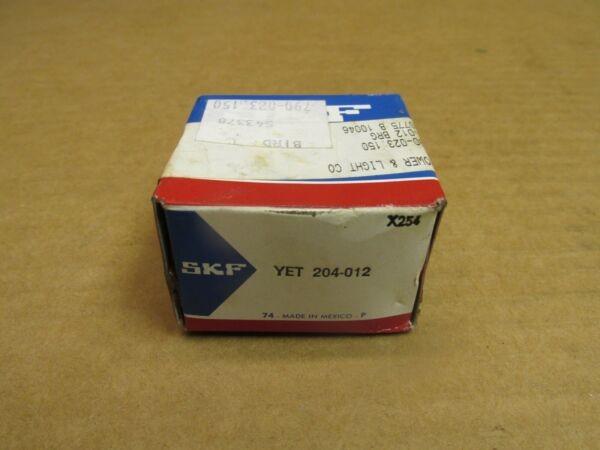 SKF YET 204-012 BEARING INSERT YET204012 3/4