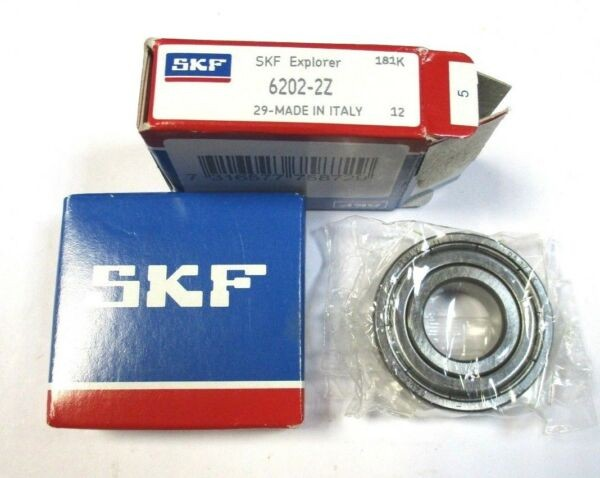 2x Grooved Ball Bearing 6202 - 2z Von SKF New A3571