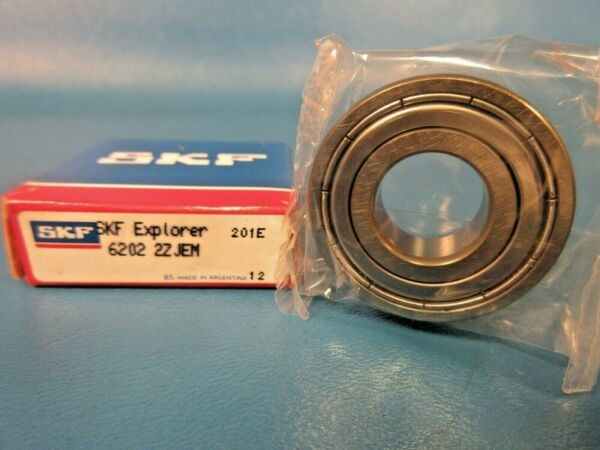 SKF 6202 2Z JEM, C3, 2ZJEM Shielded Deep Groove Ball Bearing (Timken, Fag, NSK)