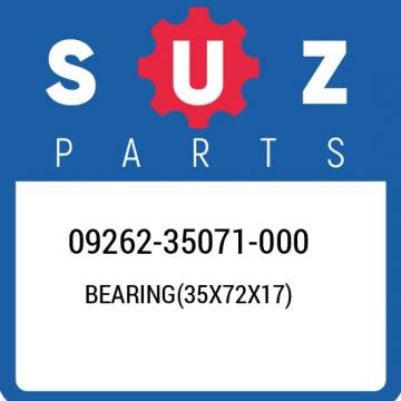 09262-35071-000 Suzuki Bearing(35x72x17) 0926235071000, New Genuine OEM Part