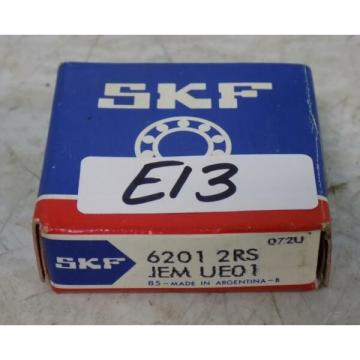 SKF SINGLE ROW DEEP GROOVE BALL BEARING 6201 2RS NIB